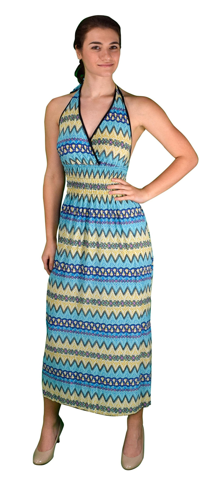 A1812-Halter-Maxi-Dress-LteBlu-Med-KL