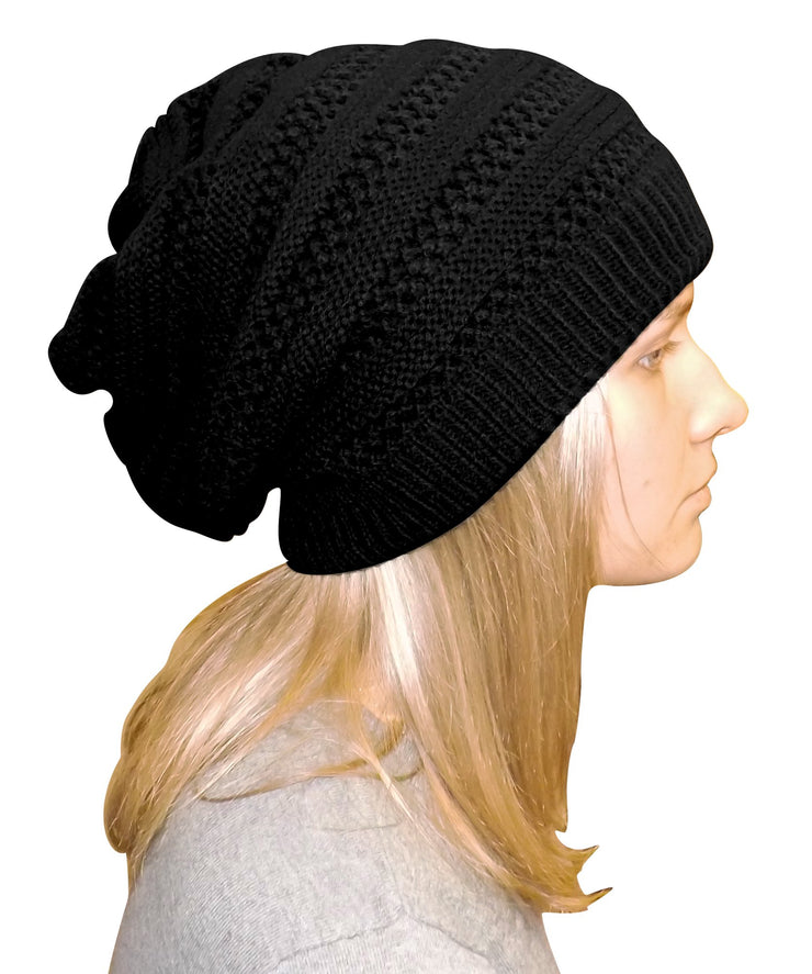 A3254-Stripe-Knit-Beanie-Black-KL