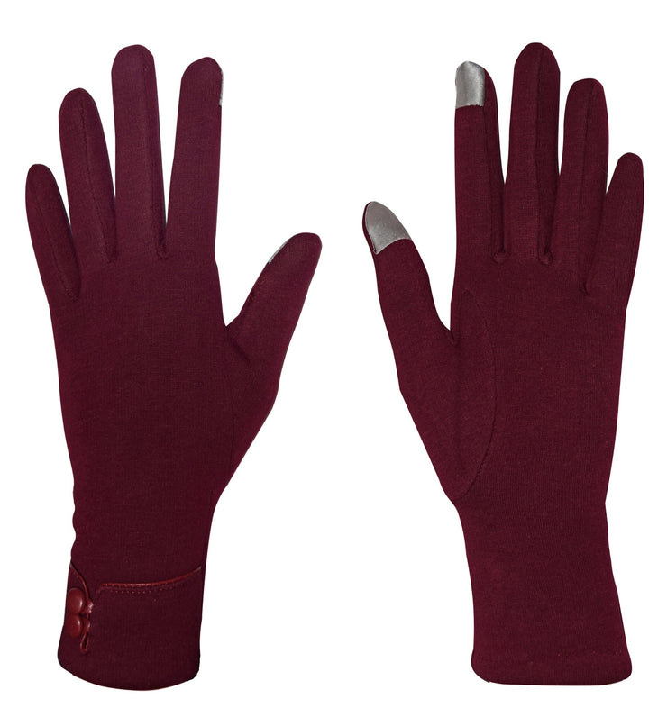 A7949-24-Buttn-Wmns-Gloves-Red