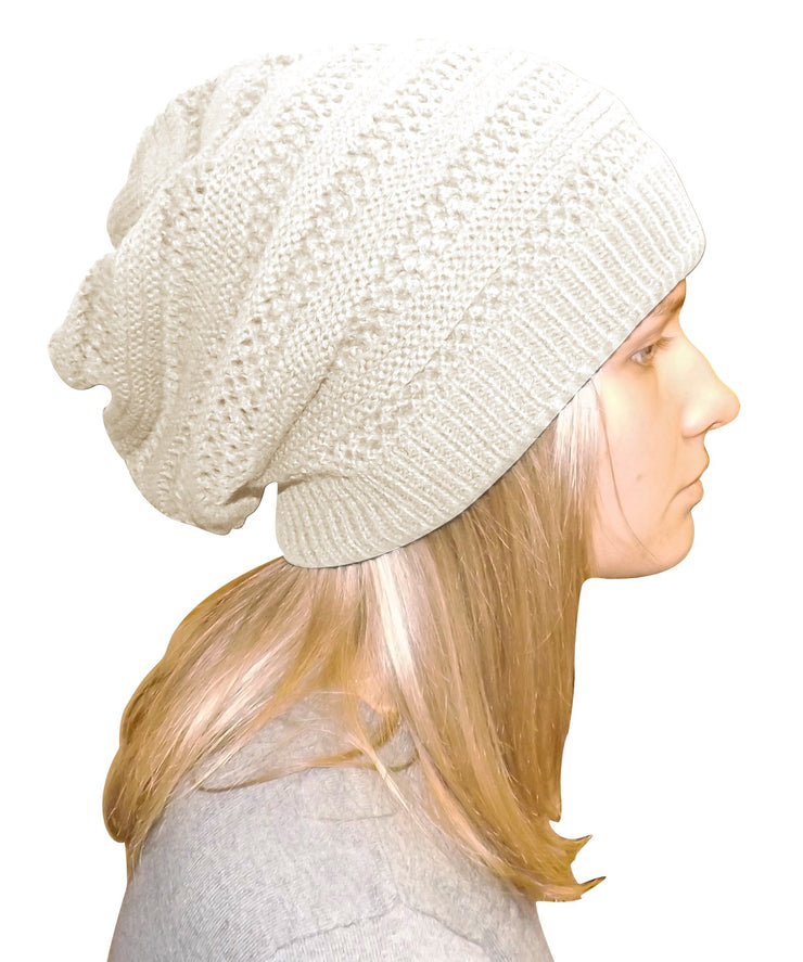 A3253-Stripe-Knit-Beanie-White-KL