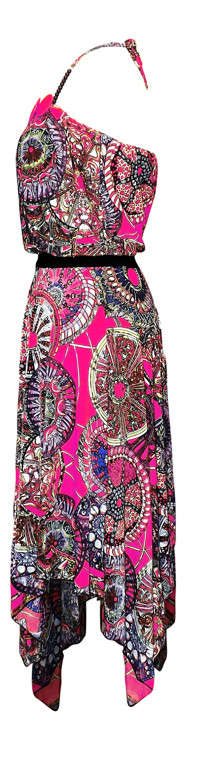 Women's Handkerchief Multicolor Loose Fit Top Boho Dress