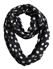 Circle-Polka-Dot-Scarf-Black-FBA-DB