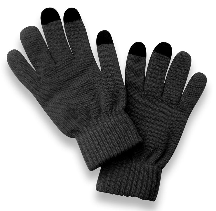 Unisex Warm Knitted Texting Gloves for Iphone Android Smart phones Touch screens Dark Grey