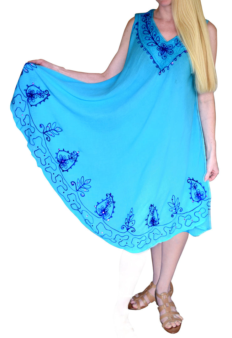 A4498-Colorful-Embroid-Dress-Blue-KL