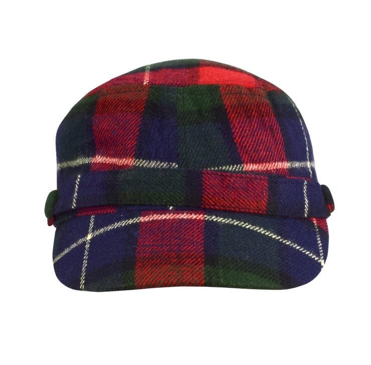 Plaid Cashmere Feel Insulated Cadet Hat and Scarf Set