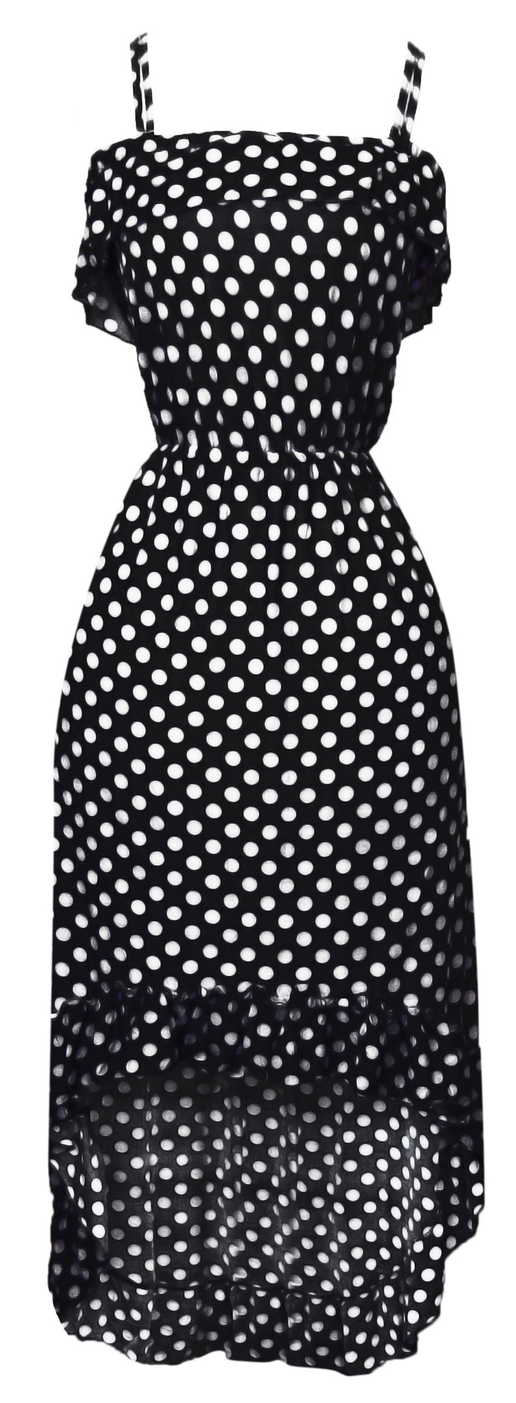A1289-PolkaDot-Maxi-Dress-Blk-Whit-M-SM
