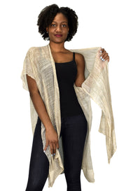 Sheer Open Front Cardigan Beach Cover up Tunic Kimono
