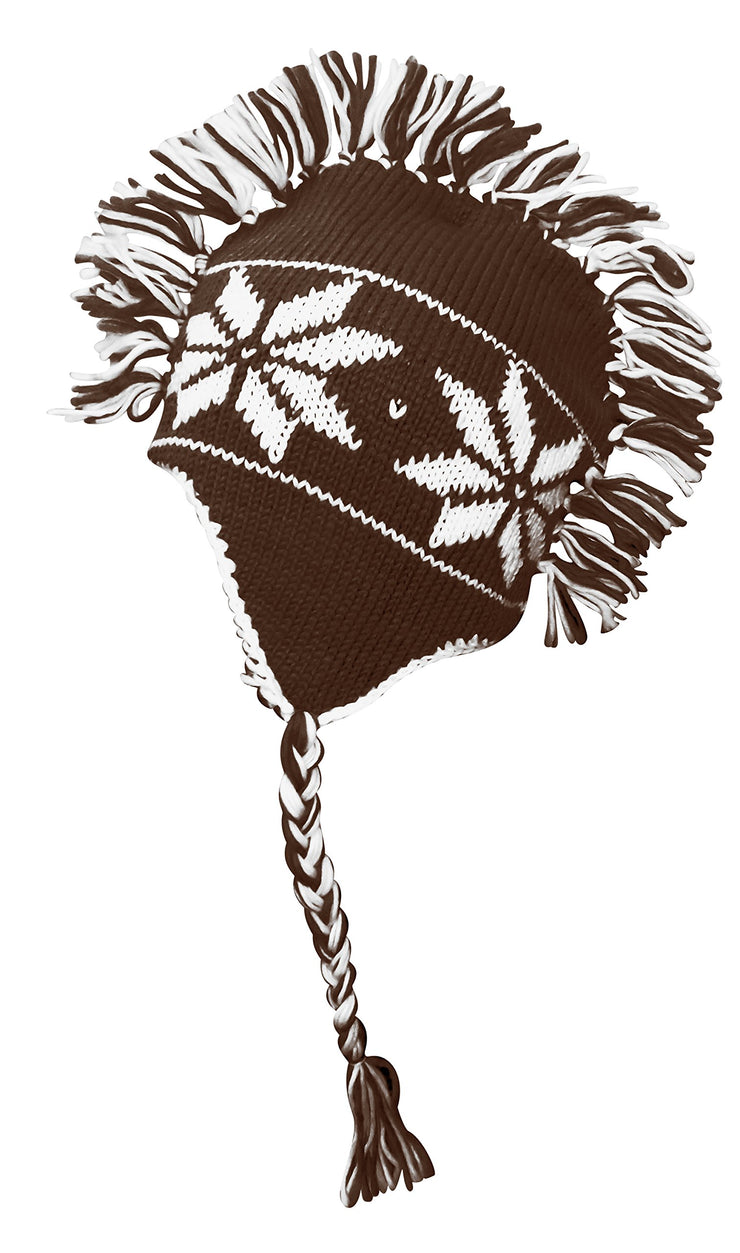 A3412-Snowflake-Mohawk-Hat-Brown-MRC