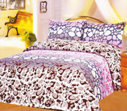 Couture Home Collection Popular Animal Giraffe Printed Neutral Color 100 % Wrinkle Free Sheet Set-650 Thread (Maroon, Queen)
