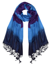 All Seasons Retro Print Colorful Tie Dye Pashmina Shawl Scarf