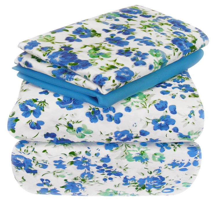 A2149-Floral-Sheets-Set-Twin-BlueGreen