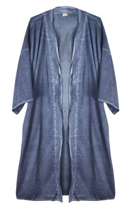 Spa Robe Lightweight Cotton Linen Unisex Long Kimono Style Bathrobe