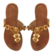Womens Beach V-Strap Toe Post Flip Flop Flat Heart Thong Sandals