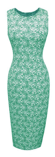 A1594-Floral-BodyconDress-Mint-Sm-JG