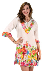 B0544-Floral-Tunic-Orange-LXL-AJ