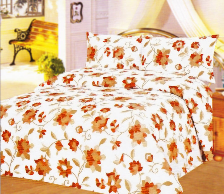 Couture Home Collection Azalea Floral Printed 100 % Wrinkle Free Cotton Sheet Set