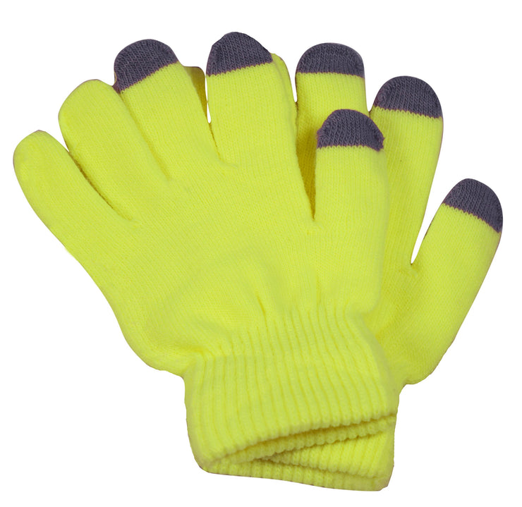 A6518-Neon-Touch-Glove-Women-Yellow-KL