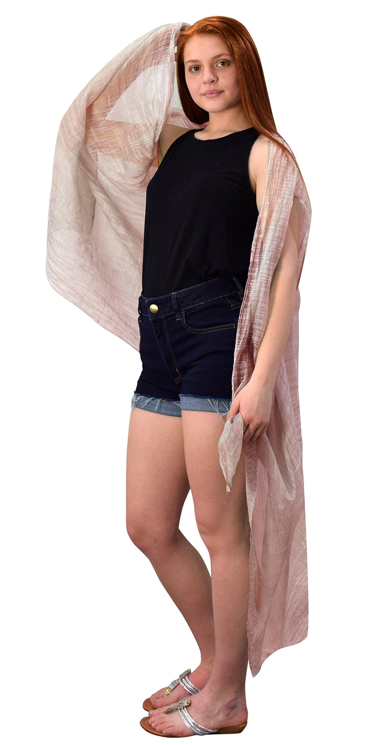 Peach Couture Sheer Open Front Cardigans Tasseled Hem Tunic Kimono Beach Wear