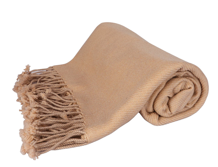 Peach Couture Home Collection Luxuriously Warm and Soft Cashmere Throw Blanket 50 x 60 in