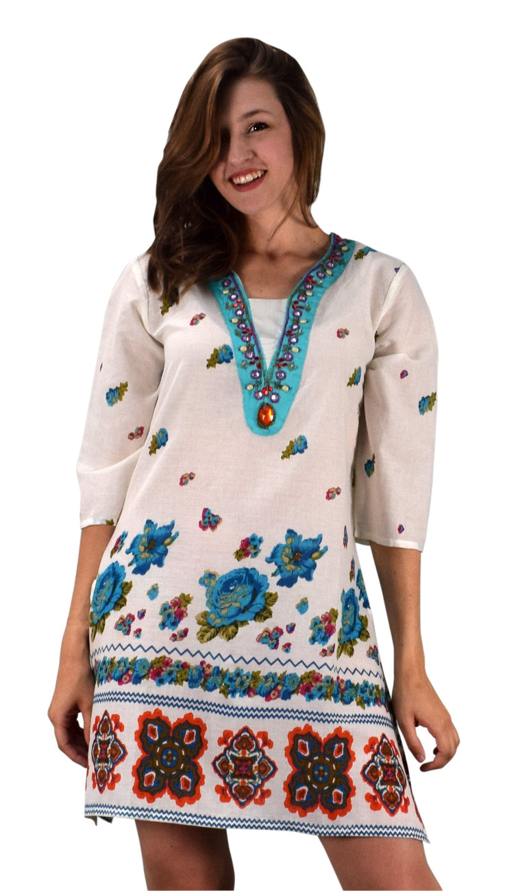 A9893-Floral-Beaded-Tunic-Turq-LXL-KN