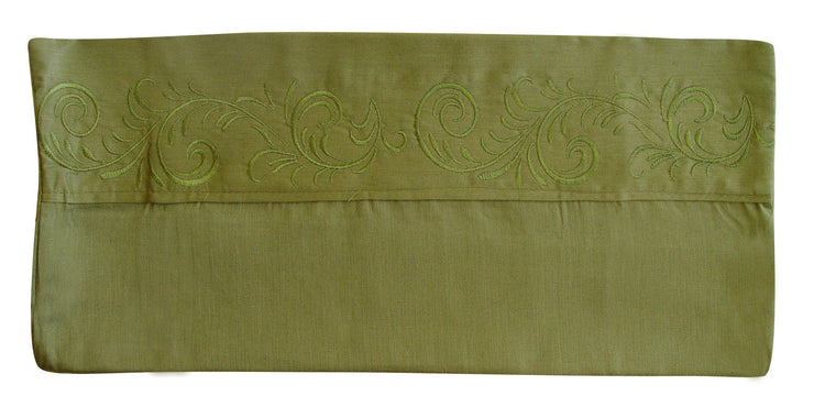 Peach Couture Home Collection and Soft 100% Cotton Flower Embroidered Design Solid Sheet Set