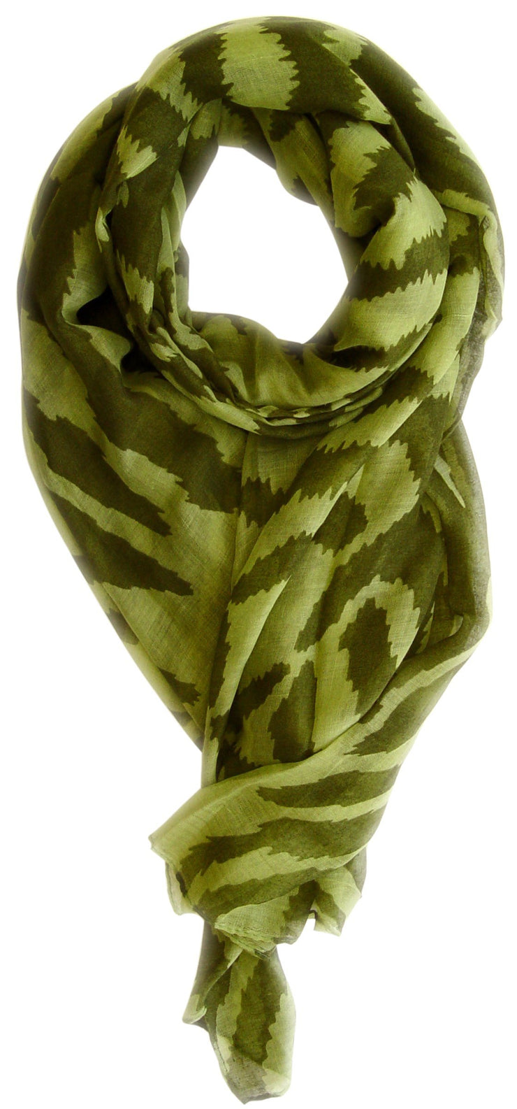Green Forest Green Peach Couture Zebra Print Trendy Animal Print Fashion Graphic Shawl Wrap Scarf