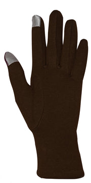 Womens Touch Screen Fleece Lined Belted Winter Gloves Warm Wear Belted Brown, One Size