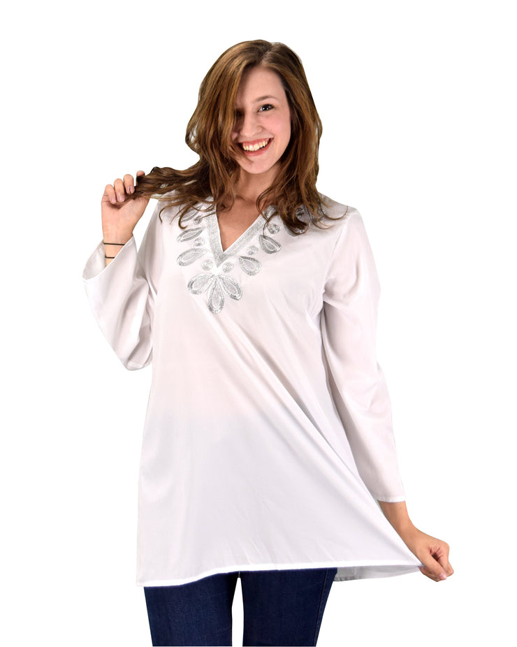 B0536-Metallic-Tunic-White-LXL-AJ