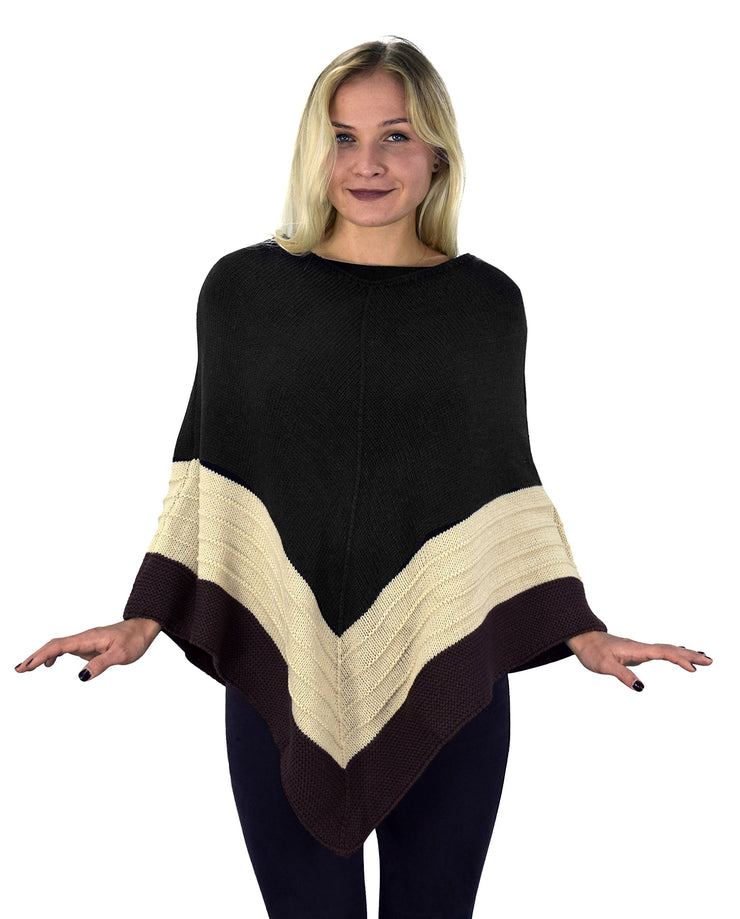 Women's Light Trendy Ruffle Batwing with Fringe Shawl Wrap Poncho
