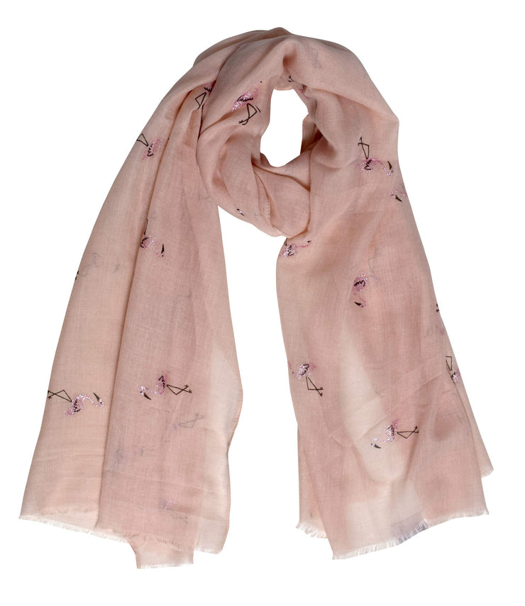 B8732-Flamingo-Scarf-Shawl-Peach-OS