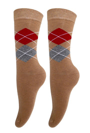 Peach Couture Soft and Warm Comfortable Long Cashmere Argyle Women's Socks