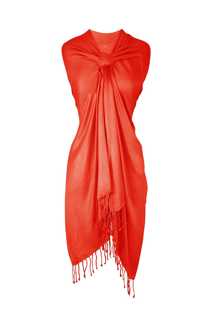 Orange Pashmina Scarf