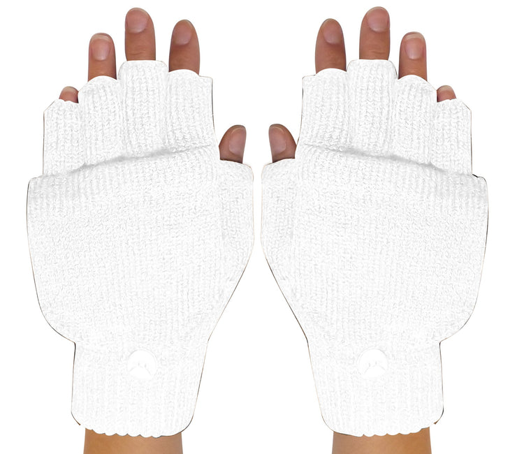 Fingerless-Flap-GL033-White-FBA-EHC
