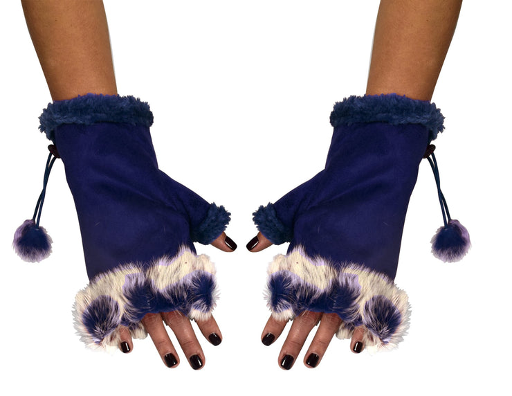A3569-Faux-Fur-Gloves-Navy-KL
