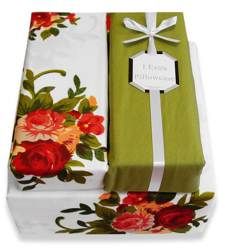 A2070-Floral-Bed-Sheets-Set-King-Red