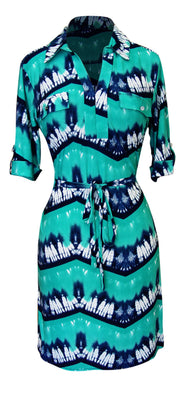 A2305-Hi-Lo-Shift-Dress-Aqua-Sma-KL