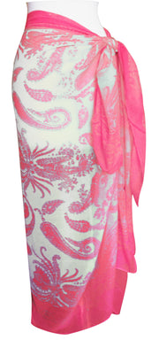Peach Couture Summer Fashion Light Weight Paisley Design Scarf Sarong Shawl Wrap