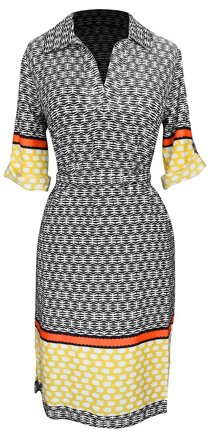 B0438-Multi-Office-Dress-YelOrg-L-SD
