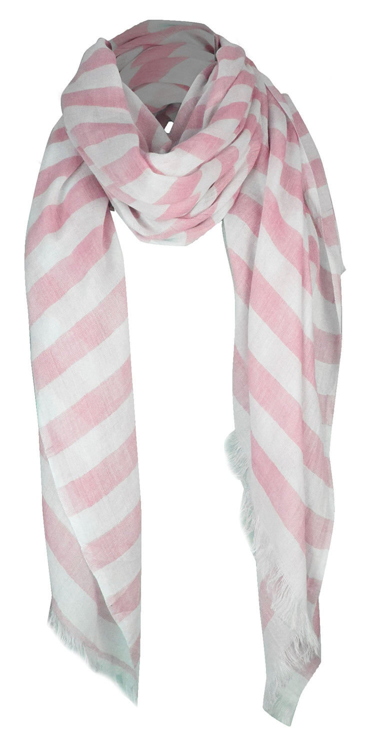 Peach Couture Lightweight Sailor Nautical All Seasons Striped Scarf Wrap Shawl