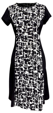 A4873-Shift-Dress-BlackAbst-Lar-KL