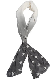 Exclusive Womens Vibrant Patriotic Fading Star Print Light Scarf