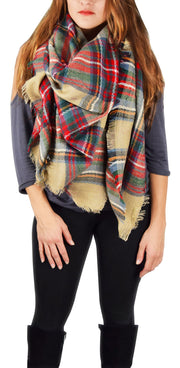 A7239-Plaid-Blanket-Wrap-TanRed-KL