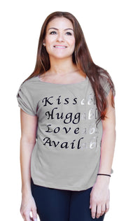 Peach Couture Adore Me Kissable Huggable Fashion Crop Top Blouse Shirt