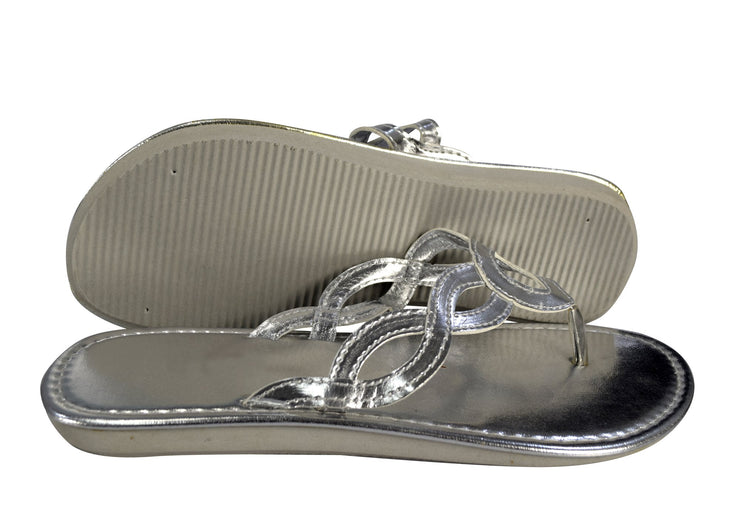 Women's Braided Strap Thong Flip Flop Sandal Slippers