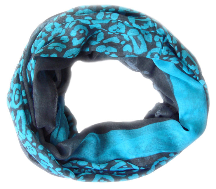 Peach Couture Retro Neon Animal Print Infinity Loop Scarf