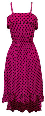 A1281-PolkaDot-Maxi-Dress-Fuch-BLK-M-SM