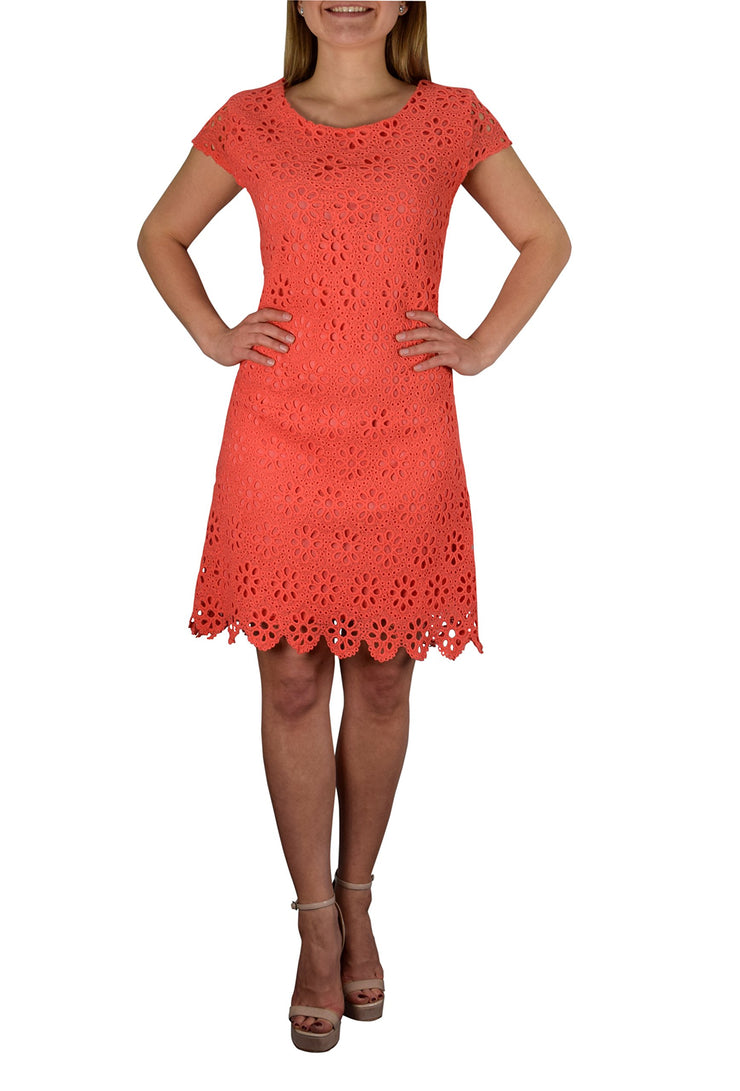 B0790-Eyelet-Dress-Coral-XL-SD