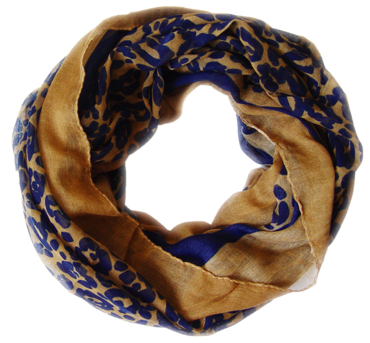 Retro Neon Animal Print Infinity Loop Scarf