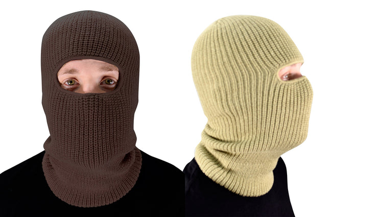 Peach Couture Unisex Thick Knit One Hole Ninja Balaclava Snowboarding Face Mask