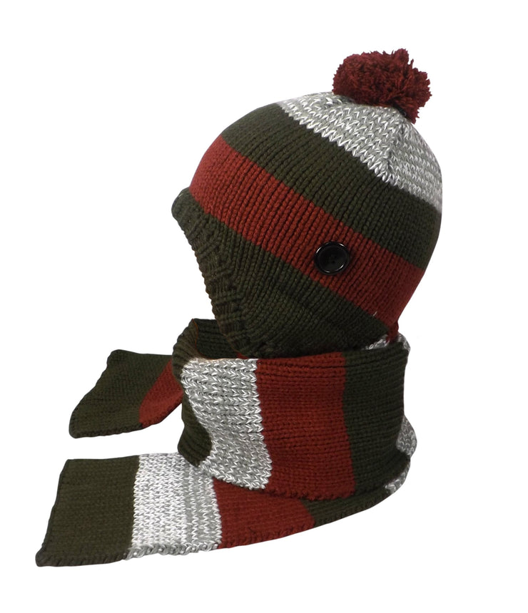 B1860-Knitted-Hat-&-Cap-Kids-Olive-AC